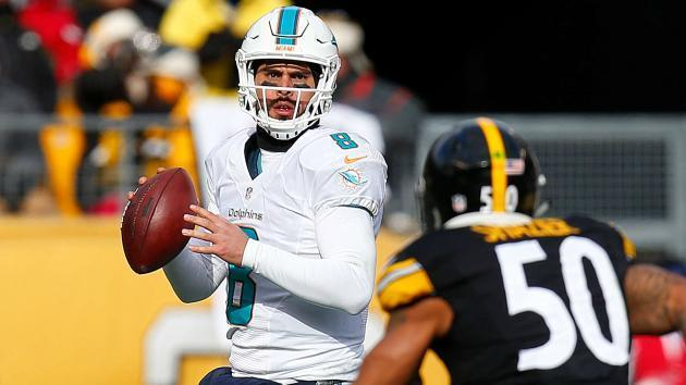 Dolphins' Gase says Tannehill getting second opinion, Moore is quarterback 'right now'