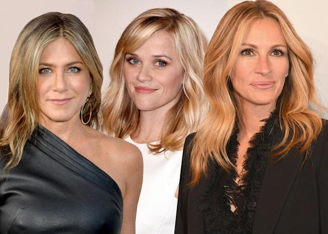 Jennifer Aniston, Reese Witherspoon, and Julia Roberts. (Photo: Getty Images)