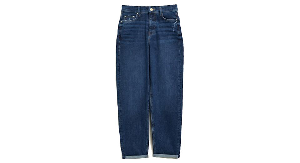 Boyfriend Ankle Grazer Jeans with Stretch