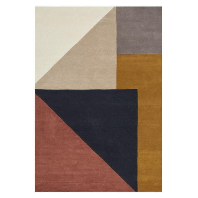 """This tonal geometric rug is a more muted take on the trend.<br><br><strong>Linie Design</strong> Multicolor Arguto Hand Tufted Rug, $, available at <a href=""""https://www.trouva.com/products/linie-design-multicolor-arguto-hand-tufted-rug"""" rel=""""nofollow noopener"""" target=""""_blank"""" data-ylk=""""slk:Trouva"""" class=""""link rapid-noclick-resp"""">Trouva</a>"""