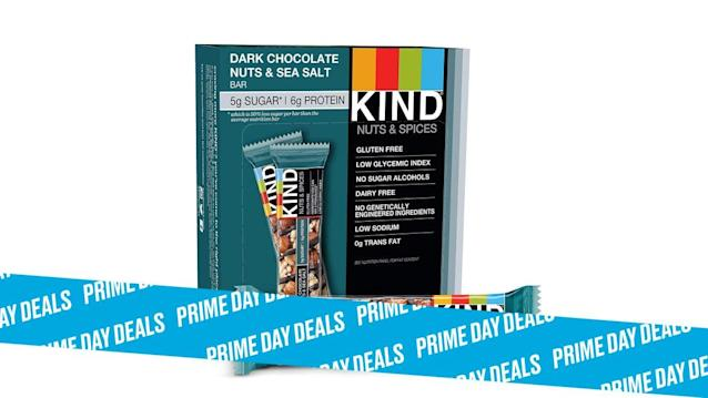 Photo Illustration by Elizabeth Brockway/The Daily Beast * 35% off on all KIND Bars. * Each bar is gluten-free, low sugar, and free of genetically modified ingredients. * Shop the rest of our other Prime Day deal picks here. Not a Prime member yet? Sign up here.There comes a point each afternoon where we can't tell if we're tired, hungry, or both. This is where that dessert-like goodness of a KIND Bar comes in. With flavors like dark chocolate cherry cashew, caramel almond and sea salt, and peanut butter dark chocolate, you'll have trouble deciding which one to devour first.   Get it on Amazon > Let Scouted guide you to the best Prime Day deals. Shop Here >Scouted is internet shopping with a pulse. Follow us on Twitter and sign up for our newsletter for even more recommendations and exclusive content. Please note that if you buy something featured in one of our posts, The Daily Beast may collect a share of sales.Read more at The Daily Beast.Get our top stories in your inbox every day. Sign up now!Daily Beast Membership: Beast Inside goes deeper on the stories that matter to you. Learn more.