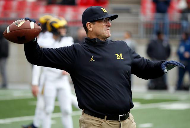 Jim Harbaugh's twitter account is the gift that keeps on giving. (Getty)