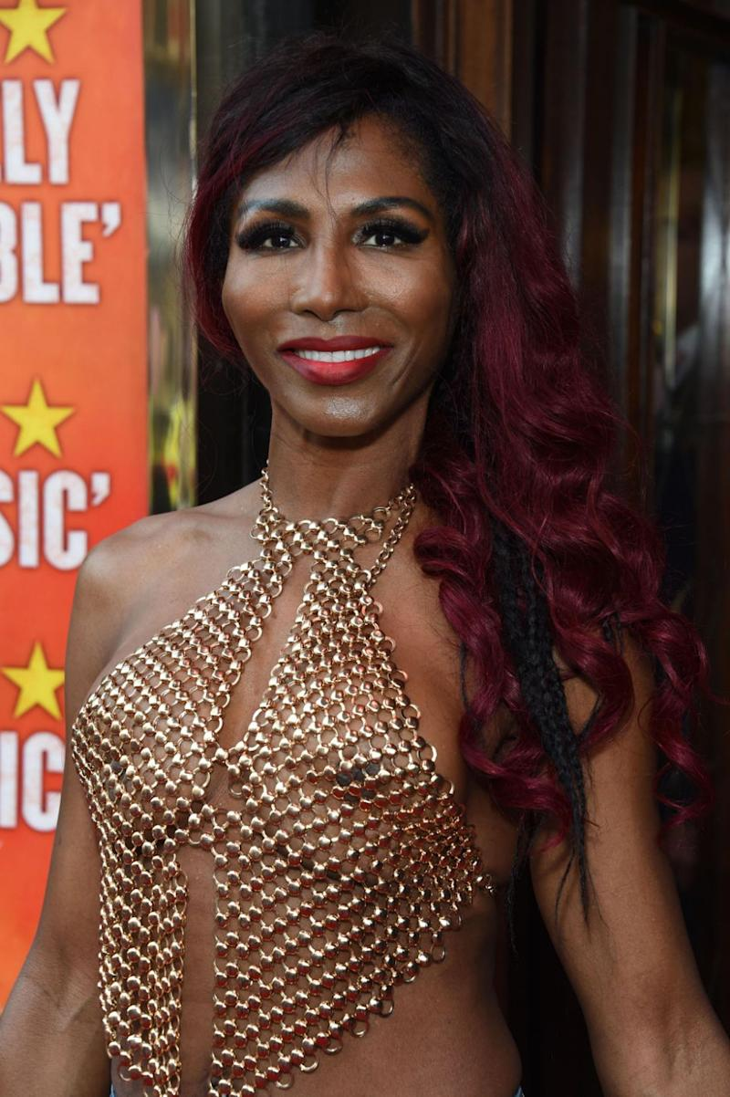 British singer Sinitta left little to the imagination at a red carpet event this week. Source: Getty