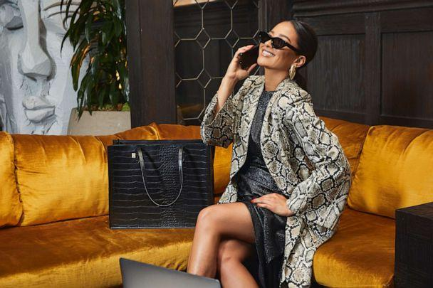 PHOTO: Shay Mitchell with The Work Tote from BEIS. (BEIS)