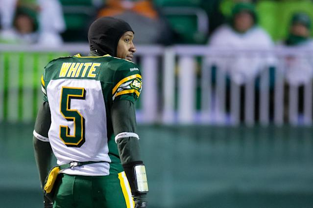 Eskimos' quarterback Pat White retires at 29 after just one season in the CFL