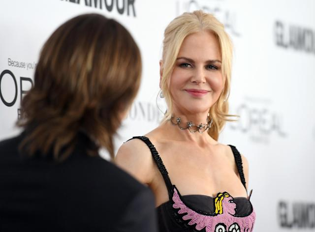 """Nicole Kidman celebrated """"good love"""" at Glamour's 2017 Women of the Year Awards on Monday night. (Angela Weiss/AFP/Getty Images)"""
