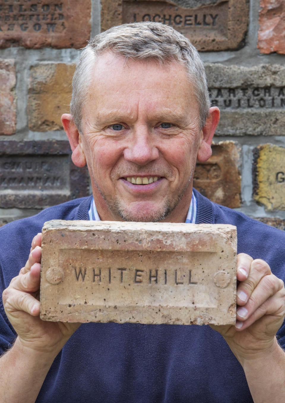 Mr Cranston said: 'I was just looking for a brick to keep the garage door open and the first I picked up had a name on it.' (SWNS)