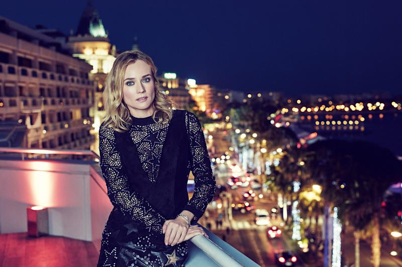 Photographed by Christopher Sturman on the rooftop of the JW Marriott, Cannes, wearing a Jaeger-LeCoultre 101 Etrier