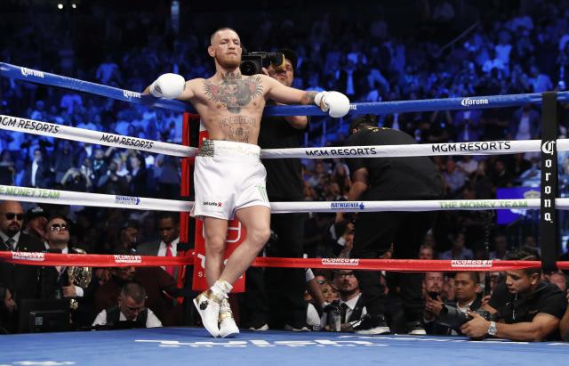 <p>Conor McGregor before the fight REUTERS/Steve Marcus </p>