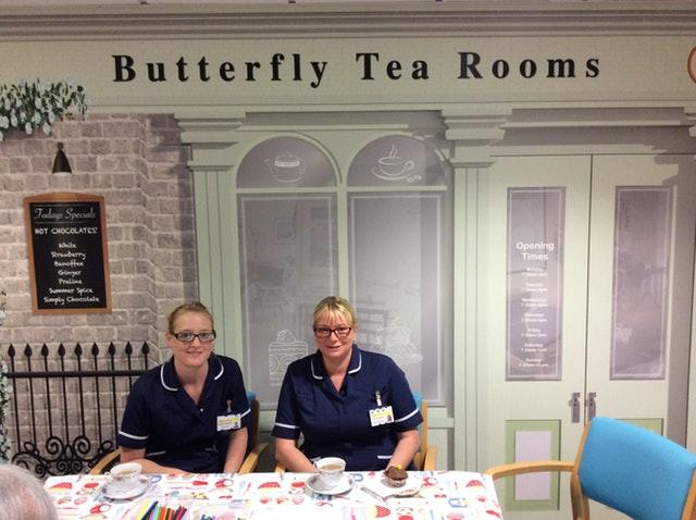 The Butterfly tea room at Airedale Hospital in West Yorkshire