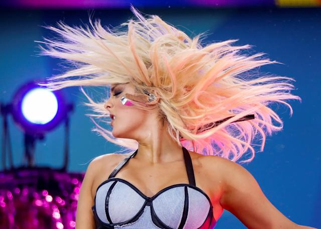 Singer Bebe Rexha performs on ABC's 'Good Morning America' show in New York, U.S., June 22, 2018. REUTERS/Brendan McDermid TPX IMAGES OF THE DAY