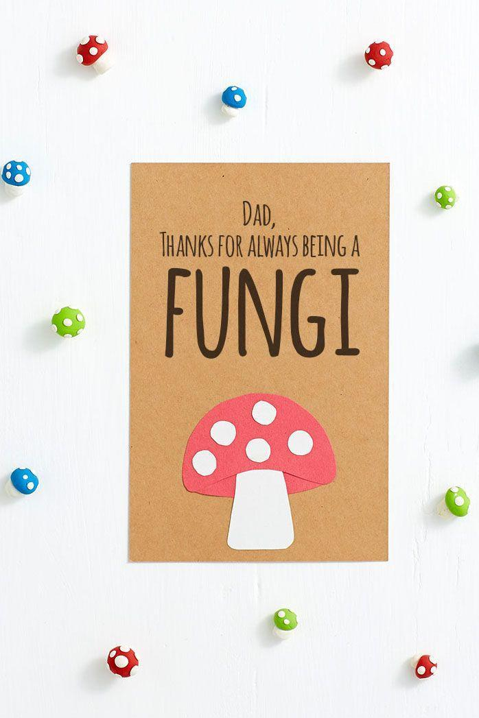 """<p>Admit it: You love his corny jokes. That's what dads are spore! (Sorry, we had to.)</p><p><em><a href=""""http://www.berries.com/blog/diy-funny-fathers-day-cards-for-dad"""" rel=""""nofollow noopener"""" target=""""_blank"""" data-ylk=""""slk:Get the tutorial from Shari's Berries »"""" class=""""link rapid-noclick-resp"""">Get the tutorial from Shari's Berries »</a></em> </p>"""
