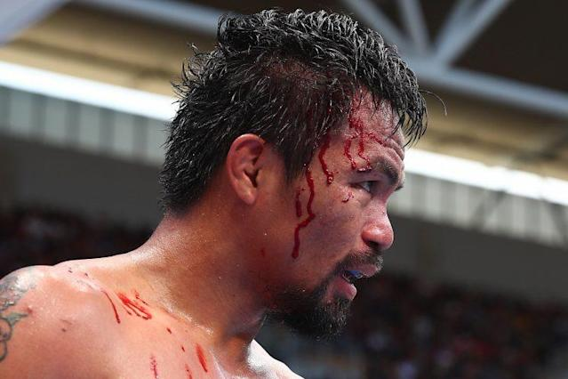Manny Pacquiao of the Philippines lost his WBO welterweight title to Jeff Horn on Saturday in Brisbane, Australia, but he was a big hit with ESPN's boxing fans. (Getty Images)