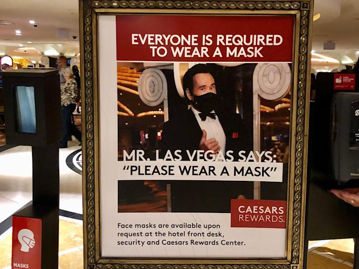 Masked up Mr. Las Vegas