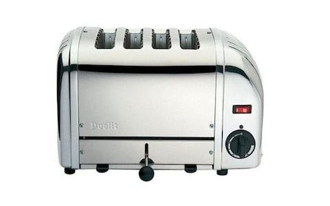 Dualit silver four slice toaster