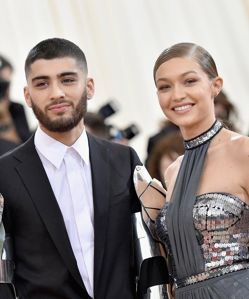 "NEW YORK, NY – MAY 02: Zayn Malik (L) and Gigi Hadid attend the ""Manus x Machina: Fashion In An Age Of Technology"" Costume Institute Gala at Metropolitan Museum of Art on May 2, 2016 in New York City. (Photo by Mike Coppola/Getty Images for People.com)"
