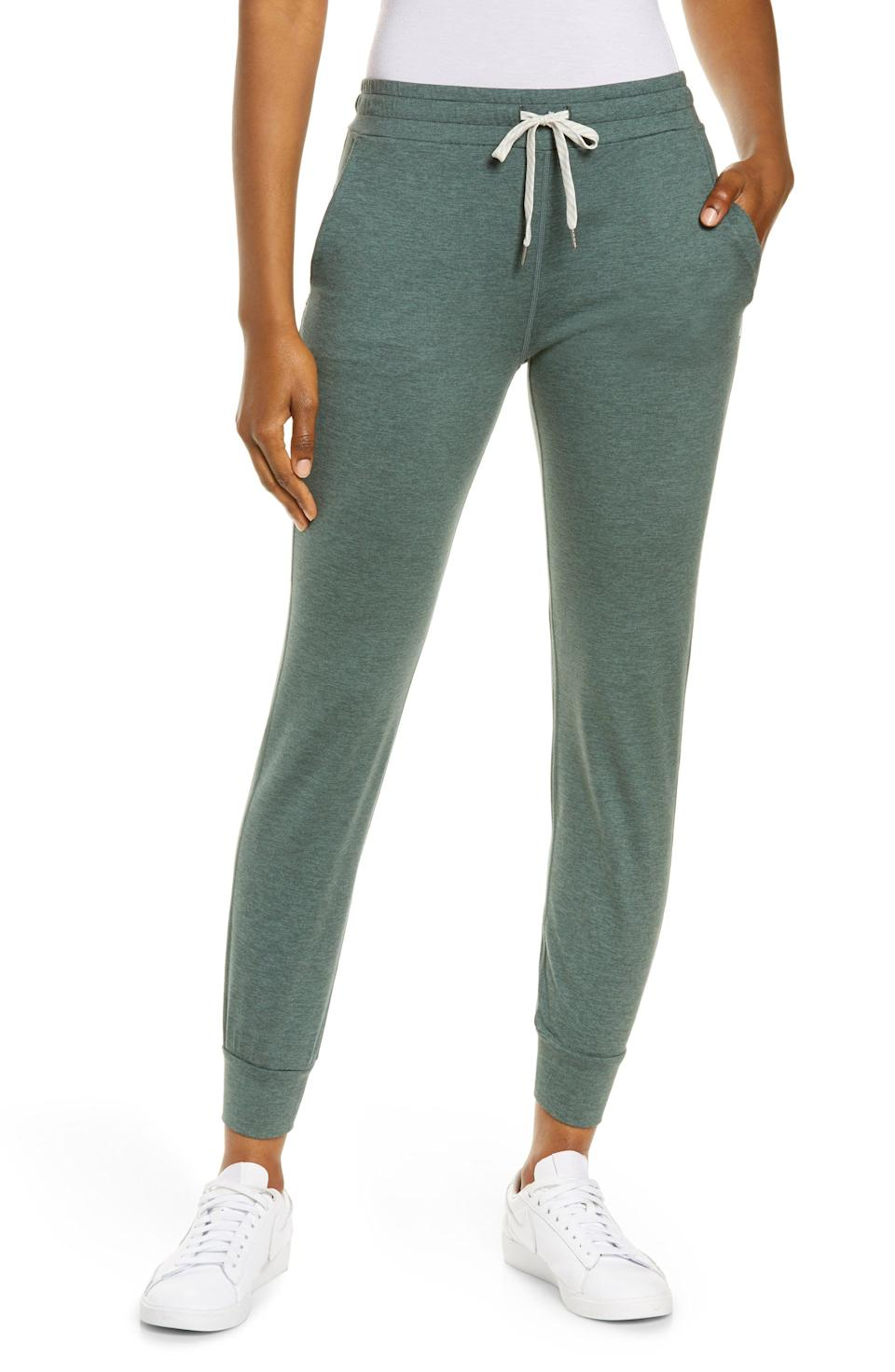 """<p><strong> Pocket Performance Joggers</strong></p><p>nordstrom.com</p><p><strong>$84.00</strong></p><p><a href=""""https://go.redirectingat.com?id=74968X1596630&url=https%3A%2F%2Fwww.nordstrom.com%2Fs%2Fvuori-pocket-performance-joggers%2F5093594&sref=https%3A%2F%2Fwww.prevention.com%2Ffitness%2Fworkout-clothes-gear%2Fg36840253%2Fbest-athleisure-brands%2F"""" rel=""""nofollow noopener"""" target=""""_blank"""" data-ylk=""""slk:Shop Now"""" class=""""link rapid-noclick-resp"""">Shop Now</a></p><p><strong><a href=""""https://go.redirectingat.com?id=74968X1596630&url=https%3A%2F%2Fwww.nordstrom.com%2Fbrands%2Fvuori--12572%3Forigin%3DproductBrandLink&sref=https%3A%2F%2Fwww.prevention.com%2Ffitness%2Fworkout-clothes-gear%2Fg36840253%2Fbest-athleisure-brands%2F"""" rel=""""nofollow noopener"""" target=""""_blank"""" data-ylk=""""slk:Vuori"""" class=""""link rapid-noclick-resp"""">Vuori</a></strong> activewear is a joy to wear and a joy to behold, thanks to its rich colors, luxurious fabrics, and modern design. Its <a href=""""https://go.redirectingat.com?id=74968X1596630&url=https%3A%2F%2Fwww.nordstrom.com%2Fs%2Fvuori-pocket-performance-joggers%2F5093594&sref=https%3A%2F%2Fwww.prevention.com%2Ffitness%2Fworkout-clothes-gear%2Fg36840253%2Fbest-athleisure-brands%2F"""" rel=""""nofollow noopener"""" target=""""_blank"""" data-ylk=""""slk:signature joggers"""" class=""""link rapid-noclick-resp"""">signature joggers</a> are a wardrobe staple, but so too are their performance tights and tops. The brand's <a href=""""https://go.redirectingat.com?id=74968X1596630&url=https%3A%2F%2Fwww.nordstrom.com%2Fs%2Fvuori-strato-slim-fit-crewneck-tech-t-shirt%2F4806427&sref=https%3A%2F%2Fwww.prevention.com%2Ffitness%2Fworkout-clothes-gear%2Fg36840253%2Fbest-athleisure-brands%2F"""" rel=""""nofollow noopener"""" target=""""_blank"""" data-ylk=""""slk:men's shirts"""" class=""""link rapid-noclick-resp"""">men's shirts</a> are also available in a range of beautiful tones to help dress up his athleisure game. </p>"""