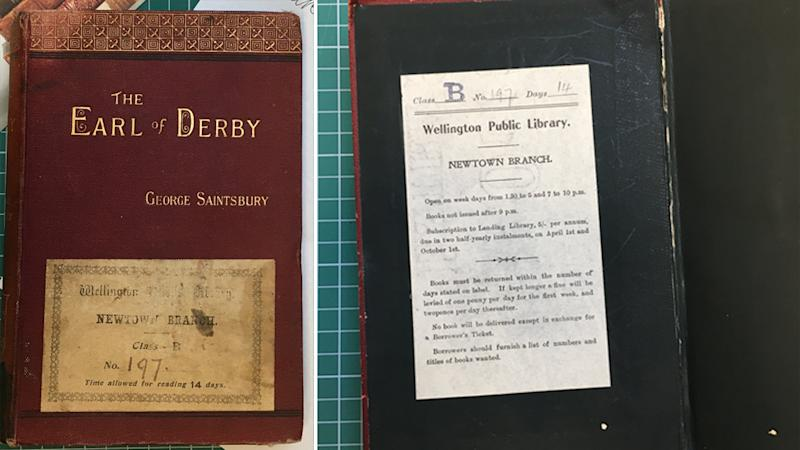 The Earl of Derby was borrowed from the Newtown Library in Wellington in 1902 and found its way to an op shop on Sydney's Northern Beaches in 2020.