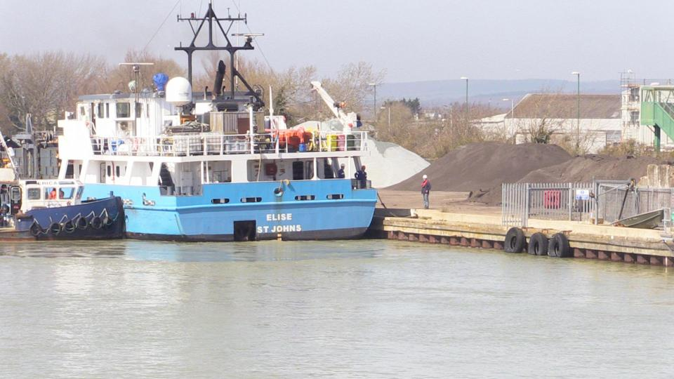 The Antigua and Barbuda-flagged cargo ship Elise arrived in Littlehampton, West Sussex, in the early hours of Tuesday (Michael Drummond/PA)