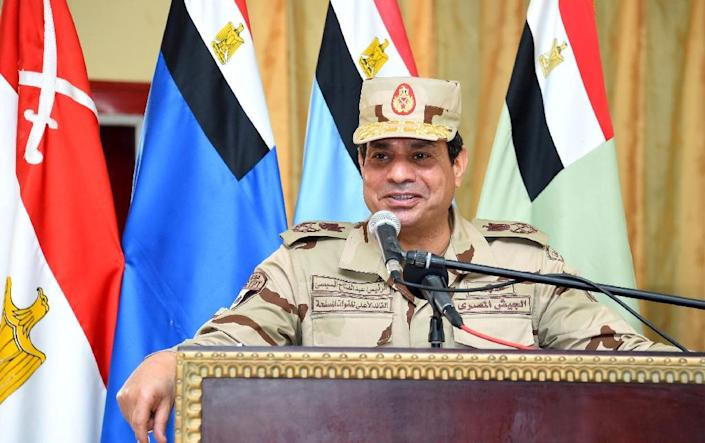 Egyptian President Abdel Fattah al-Sisi has pledged tough security measures against militants who have bedevilled the country since the overthrow of his Islamist predecessor Mohamed Morsi in 2013 (AFP Photo/Mohamed Abdelmoaty)