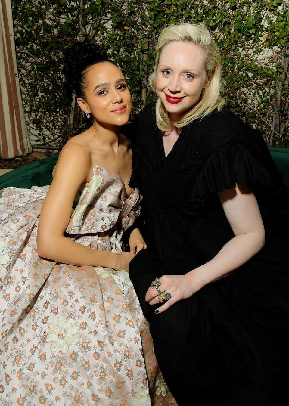 <p>Another SAG award GOT reunion happened at the Netflix afterparty where Nathalie Emmanuel and Gwendoline Christie caught up.</p>