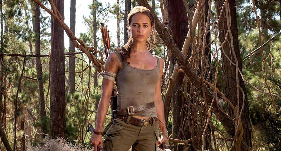 Alicia Vikander in the 2018 <em>Tomb Raider</em> reboot. (Photo: Warner Bros./Courtesy of Everett Collection)