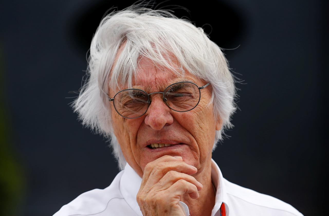 FILE PHOTO - Formula One supremo Bernie Ecclestone looks on before the Hungarian F1 Grand Prix at the Hungaroring circuit, near Budapest, Hungary July 26, 2015. REUTERS/Laszlo Balogh/File Photo