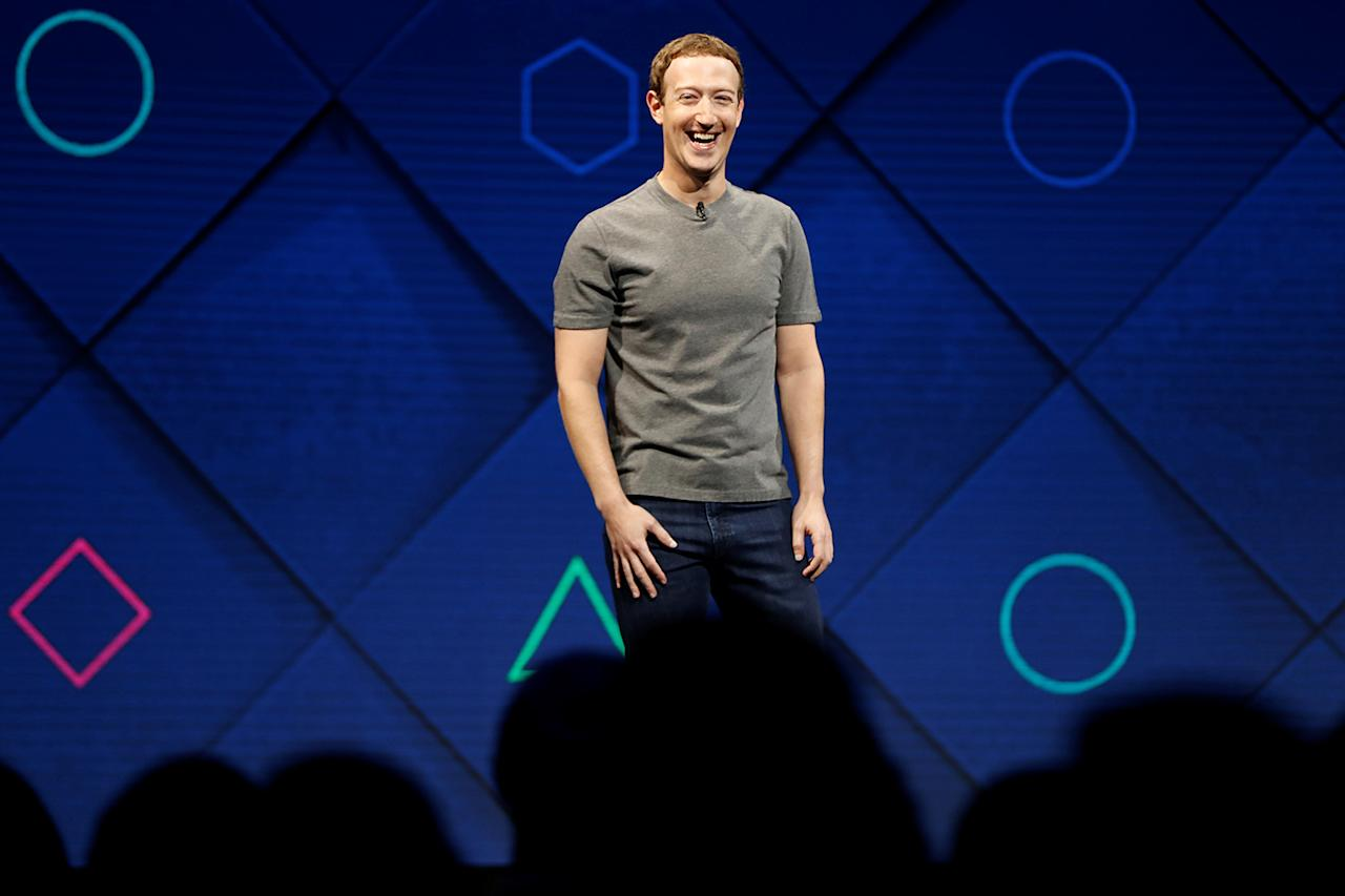 <p>Facebook Founder and CEO Mark Zuckerberg speaks on stage during the annual Facebook F8 developers conference in San Jose, California, April 18, 2017. (Photo: Stephen Lam/Reuters) </p>
