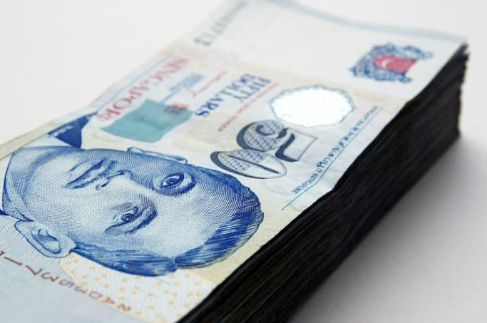 Singapore dollar sits at $1.2242
