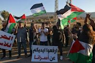 The inmates, who were being held for attacks against the Jewish state, became heroes among some Palestinians (AFP/AHMAD GHARABLI)