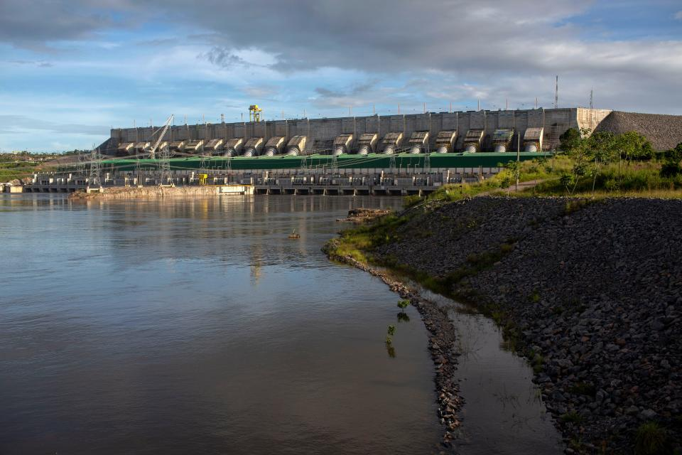 View of the Belo Monte Hydroelectric Power Plant in Altamira, Para State, Brazil on March 11, 2019. (Photo by Mauro Pimentel / AFP)        (Photo credit should read MAURO PIMENTEL/AFP via Getty Images)