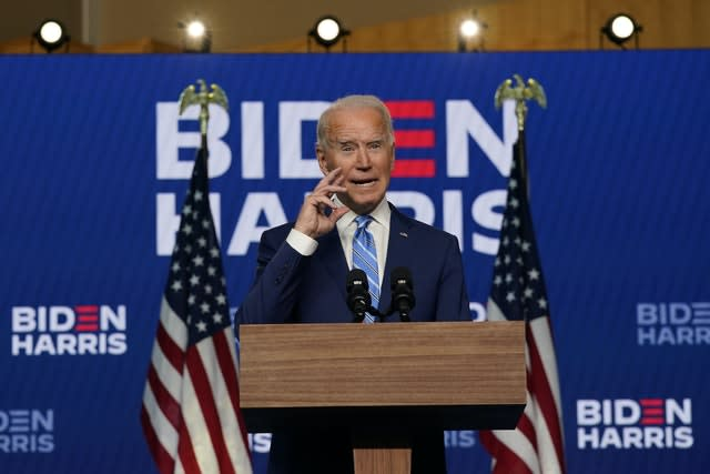 Joe Biden speaks in Wilmington, Delaware