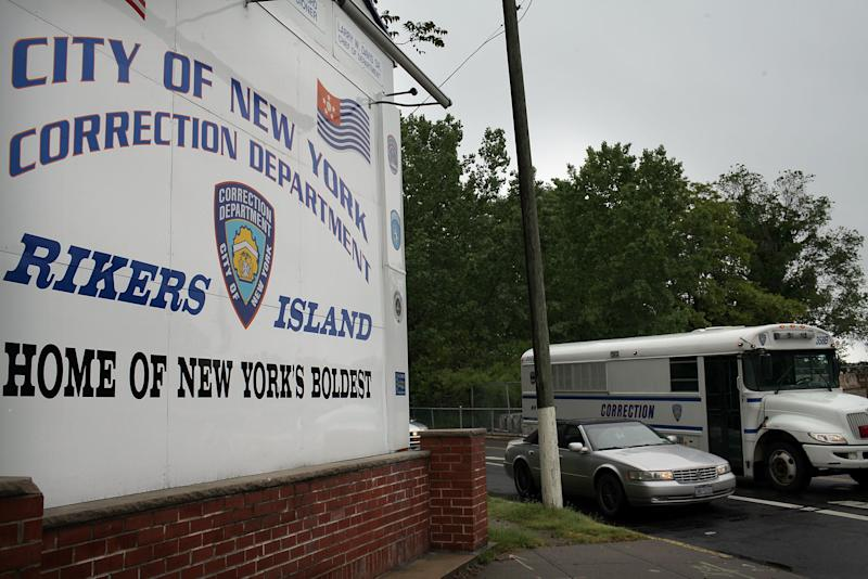 People incarcerated at Rikers Island are worried they will die in jail from COVID-19. (Photo: Spencer Platt via Getty Images)