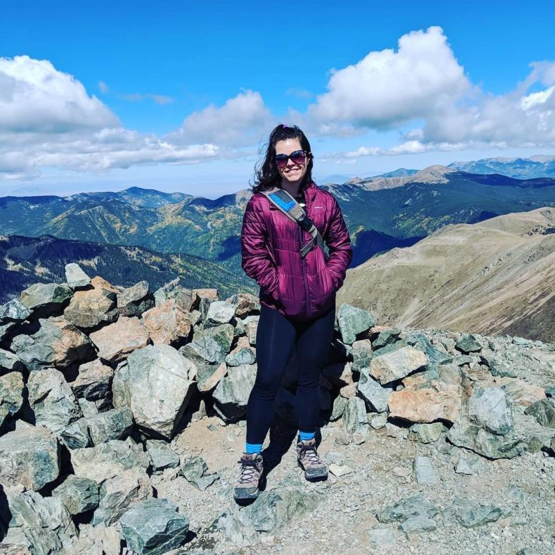 Photo after hiking up Mount Wheeler, the tallest in the state of New Mexico, in the fall of 2018. (Photo Courtesy of Jamie Cattanach)