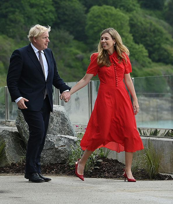 carrie-symonds-red-dress