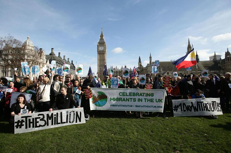 The One Day Without Us protest, where people marched in support of migrants: PA