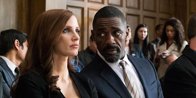 Jessica Chastain and Idris Elba in <em>Molly's Game</em> (Photo: TIFF)