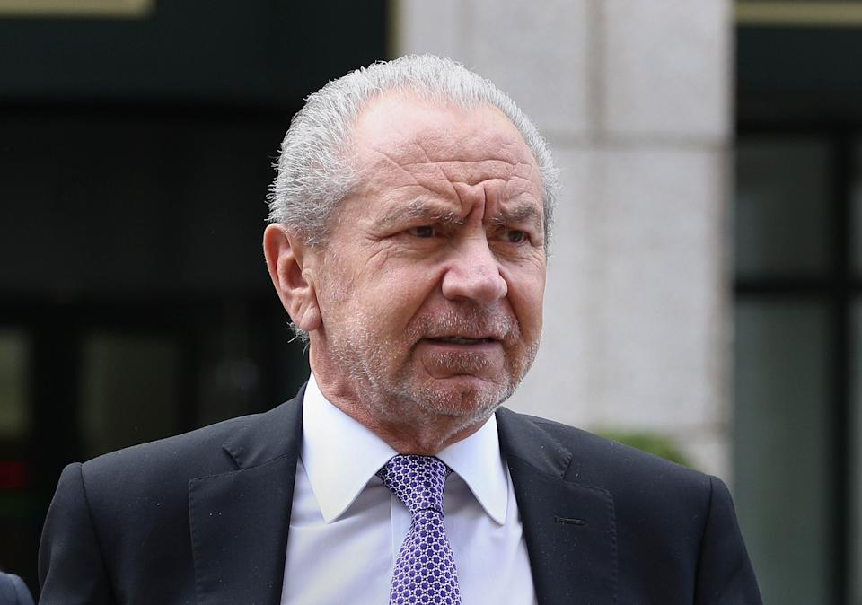Backing Boris: Lord Sugar (Photo by Philip Toscano/PA Images via Getty Images)