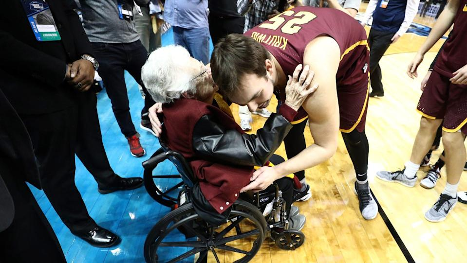 Sister Jean and the Ramblers are still alive in the NCAA tournament. Loyola Chicago will play in the Final Four next week. (AP)