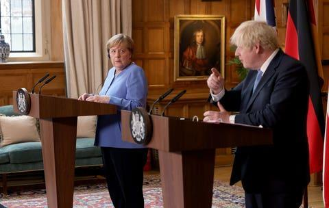 """Angela Merkel expressed """"grave concerns"""" over Wembley crowds in a meeting with Boris Johnson at Chequers. (PA)"""