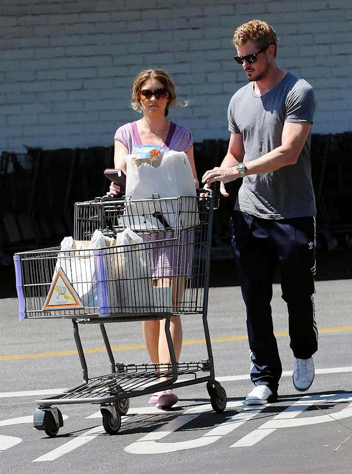"""Also in the mood for munchies ... homemade movie stars Rebecca Gayheart and Eric Dane, who hit up the pricey Bristol Farms market in Beverly Hills. Anthony Monterotti/<a href=""""http://www.pacificcoastnews.com/"""" target=""""new"""">PacificCoastNews.com</a> - September 7, 2009"""