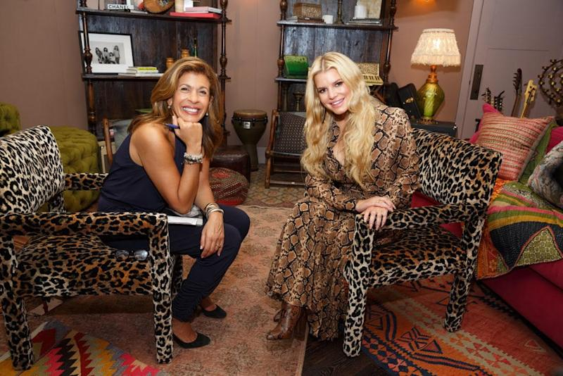 Hoda Kotb and Jessica Simpson. Image courtesy of NBC's TODAY (photo by Kristin Burns).