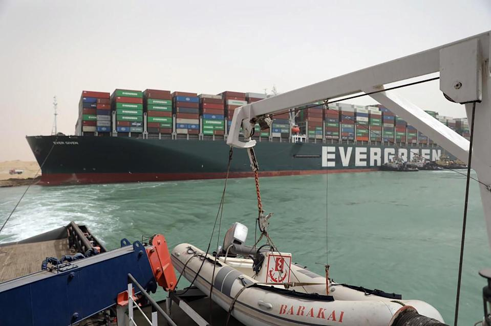 Ever Given ship in Suez Canal