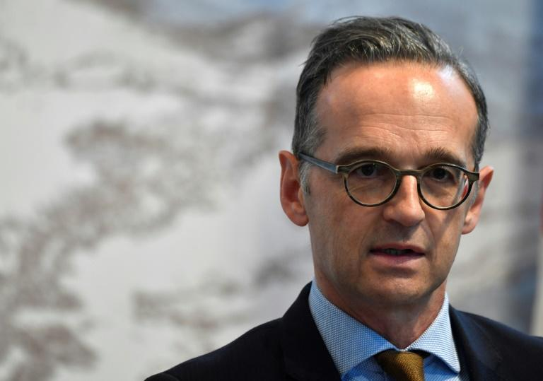 "Foreign Minister Heiko Maas (pictured October 17, 2019) said Germany does not ""believe that an attack on Kurdish units or Kurdish militia is legitimate under international law"""