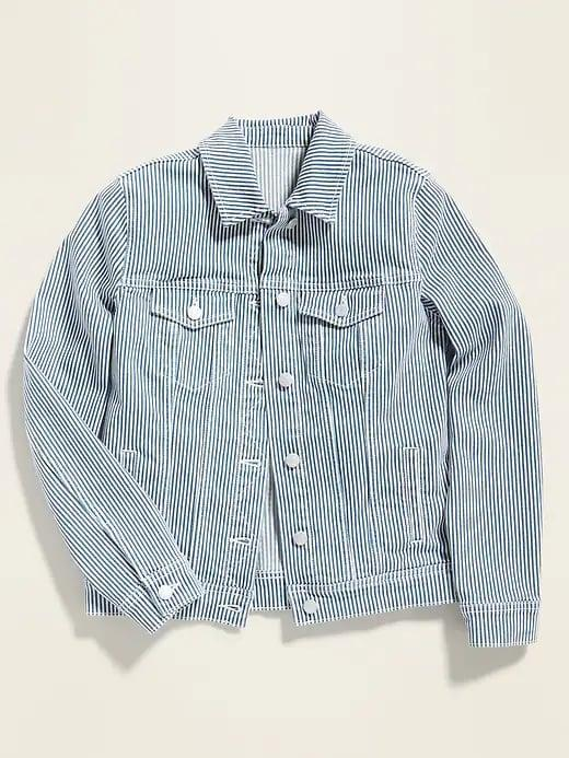 <p>Would you pair this <span>Old Navy Railroad-Stripe Jean Jacket</span> ($36, originally $40) with your favorite solid shirt . . . or go all in on pattern matching instead? </p>