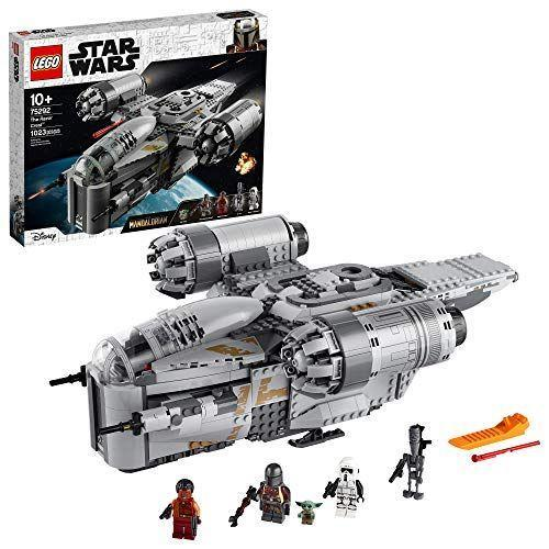 "<p><strong>LEGO</strong></p><p>amazon.com</p><p><strong>$129.99</strong></p><p><a href=""https://www.amazon.com/dp/B0849GZMZH?tag=syn-yahoo-20&ascsubtag=%5Bartid%7C10055.g.29624061%5Bsrc%7Cyahoo-us"" rel=""nofollow noopener"" target=""_blank"" data-ylk=""slk:Shop Now"" class=""link rapid-noclick-resp"">Shop Now</a></p><p>If you're looking to re-create <em>The Mandalorian</em> in LEGO form, there's this model of the Mando's ship, which comes with a Baby Yoda minifig. Or, you can opt for a <a href=""https://www.amazon.com/LEGO-BrickHeadz-Mandalorian-Featuring-Buildable/dp/B0849S7C5W?tag=syn-yahoo-20&ascsubtag=%5Bartid%7C10055.g.29624061%5Bsrc%7Cyahoo-us"" rel=""nofollow noopener"" target=""_blank"" data-ylk=""slk:BrickHeadz Mando and Child"" class=""link rapid-noclick-resp"">BrickHeadz Mando and Child</a>, or a set that features <a href=""https://go.redirectingat.com?id=74968X1596630&url=https%3A%2F%2Fwww.lego.com%2Fen-us%2Fproduct%2Fthe-child-75318&sref=https%3A%2F%2Fwww.goodhousekeeping.com%2Fholidays%2Fgift-ideas%2Fg29624061%2Fstar-wars-gifts%2F"" rel=""nofollow noopener"" target=""_blank"" data-ylk=""slk:just The Child and has a poseable face"" class=""link rapid-noclick-resp"">just The Child and has a poseable face</a>. <em>Ages 10+ </em></p>"