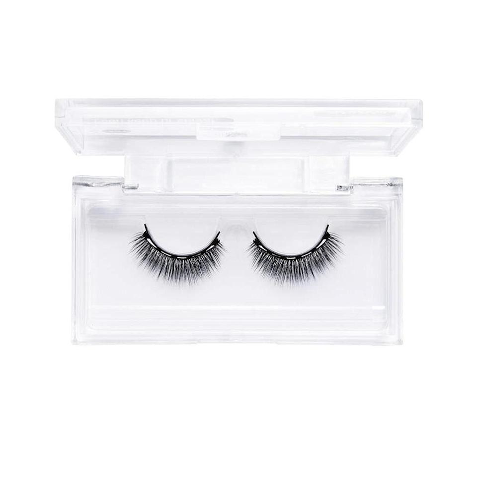 """Similar to applying winged liner, faux eyelashes can be a similarly daunting beauty task. That is until <a href=""""https://www.allure.com/gallery/best-false-eyelashes?mbid=synd_yahoo_rss"""" rel=""""nofollow noopener"""" target=""""_blank"""" data-ylk=""""slk:magnetic lashes"""" class=""""link rapid-noclick-resp"""">magnetic lashes</a> swooped in and made our lives a lot easier. We're partial to Glamnetic's Lashes Vegan Magnetic Eyelashes, which are incredibly easy to put on — just swipe the liquid eyeliner across your lids (it's OK if it's not perfectly straight) and then stick each strip on top. Tiny magnet fibers in the liner formula sync with the lash line to keep the falsies in place. These work so well that we gave it a <a href=""""https://www.allure.com/gallery/best-of-beauty-makeup-brush-hot-tool-winners?mbid=synd_yahoo_rss"""" rel=""""nofollow noopener"""" target=""""_blank"""" data-ylk=""""slk:Best of Beauty Award"""" class=""""link rapid-noclick-resp"""">Best of Beauty Award</a> this year. Plus, the eyelashes come in a range of natural and dramatic styles."""