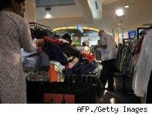 shoppers in a retail store