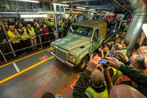 The last Land Rover Defender rolls off the Solihull production line in 2016 - Credit: PA