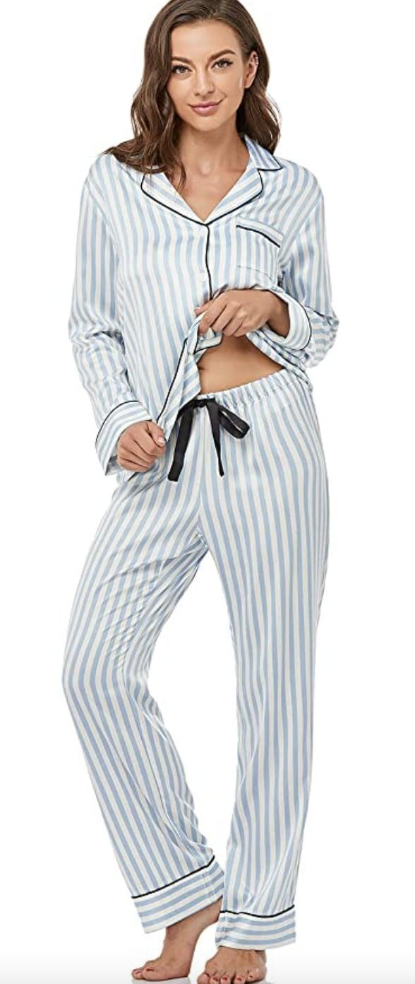 <p>If you typically get cold at night, this <span>Serenedelicacy Satin Pajama Set</span> ($26) will keep you warm and comfortable. They seem lightweight, breathable, and ideal for lazy nights in and restful sleep. It's also a budget-friendly pick that you'll probably wear year-round.</p>